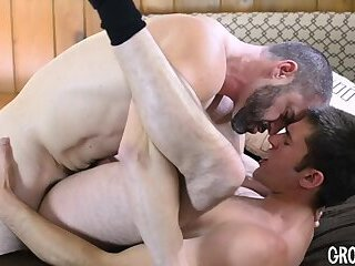 Young man fucked bareback 2x by hairy daddy satyr monster & bred