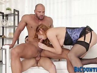 Hunky bisex dude riding