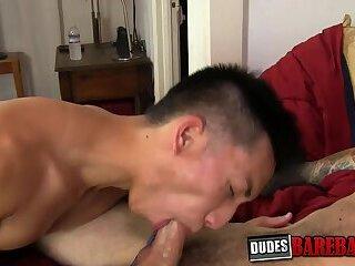 Skinny Asian dick rider craves for hardcore barebacking