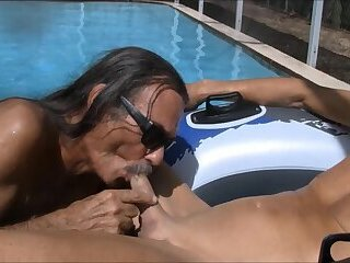 deep throat by the pool