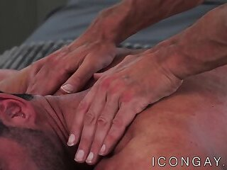 Billy Santoro ass pleasured with masseurs big cock