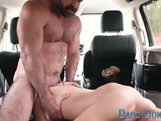 Bear stepfather bangs raw
