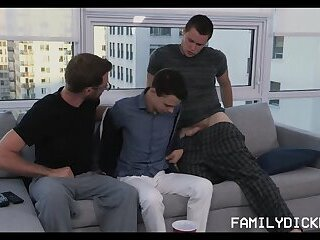 Young Twink Boy Fucked By Stepdad And Stepbrother Threesome