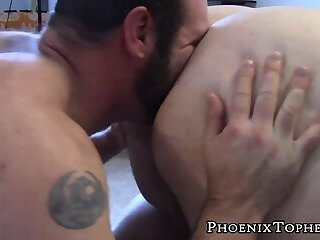 Super cub gets his huge ass rimmed and fucked by daddy bear