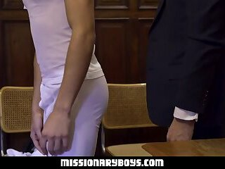 MormonBoyz - Ripped Missionary Boy Penetrates A Strong Priests Tight Asshole
