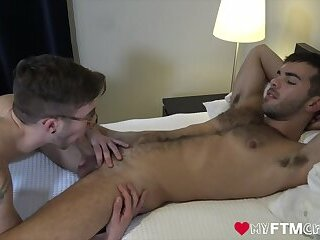 MyFTMCrush - FTM Ari Koyote gets fucked by hairy Riley Ross after oral swap