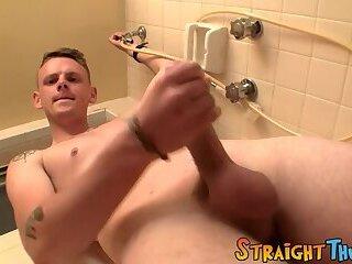 Handsome straight dude Dallas Cage solo masturbates