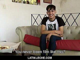 LatinLeche - Cameraman Gets His Uncut Cock Sucked By A Shy Latino Boy