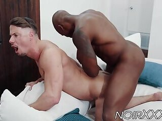 Gorgeous Skyy Knox offers his muscular ass to BBC Max Konnor