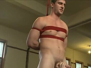 Bryan's never been edged in bondage