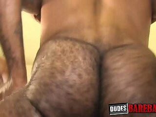 Good looking black stud bare fucks his white bottom lover