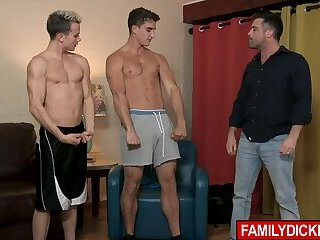 Daddy Lance Hart fucks his own son and his buddy in this perverted threesome!