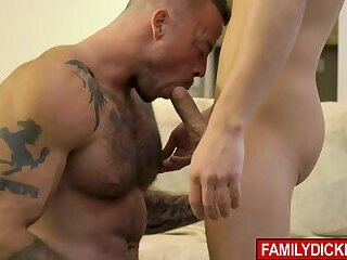 Stepfather fucked in his asshole by his stepson