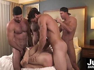 Group of hot muscle dudes plow hard tied up guys asshol