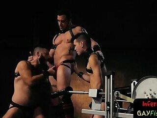 Horny gay hunk getting anally ruined