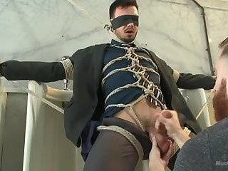 Bound, blindfolded and edged