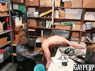 Harsh pounding for young suspect with very tight booty