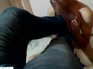 Slave worship master shoes