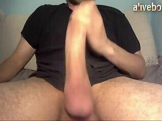 massive cock jerks off and shoots super cumshot