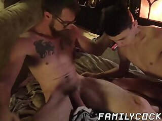 Submissive twink gets his tight ass worked by stepdaddy