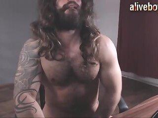 Aquaman jerking cock till hot cumming