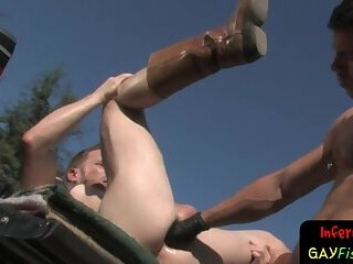 Bdsm hunks in extreme fisting