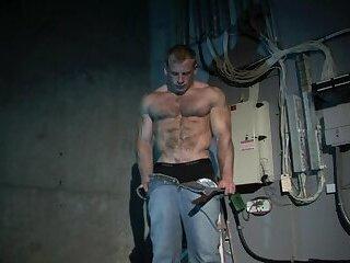 Sexy Ben Kieren Cellar solo, hairy muscle