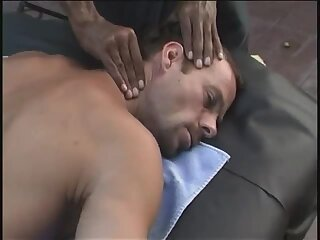 4-hands massage of a king-size cock