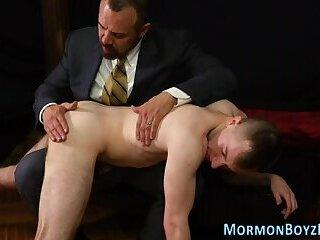 Mormon bishop toying dudes ass