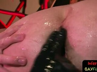Horny gay stud fisted hard and deep