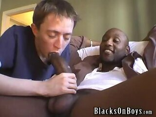 blackman with monster cock fucks white twink