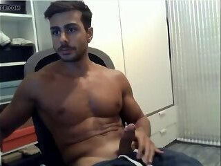 Indian Studs Jerking off to WebCam | Indian boy Solo Masturbation