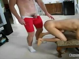 twink spanked and barefucked by man