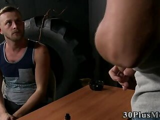 Cock sucking banged bear tugs and cums