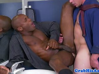 Office stud getting sucked off by colleague