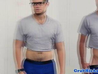 Hot gay stud seduces his employee