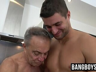 Grandpa gets fucked and drilled by a much younger stud