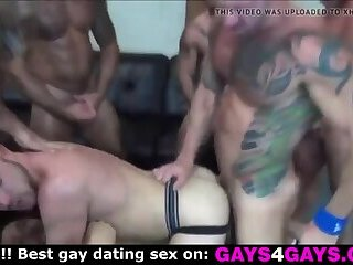Muscle gays group fuck