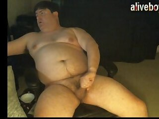 Fat Guy Small Cock Cum
