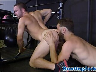 Muscle stud assfucked by handsome jock
