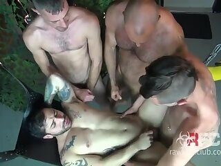 All-out gang bang on a sweet bubble butt