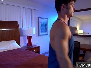 Call Boy Building Up Courage to Fuck Customer - Myles Landon and Devin Franco