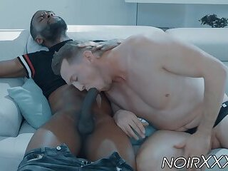 Interracial anal sex with gays Pierce Paris and Taye Scott