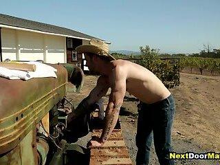 Redneck gay jock fucks straight farmer's virgin ass