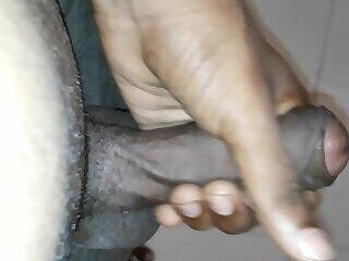 Black cock with cum shot