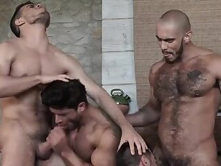 Six dudes Have fun