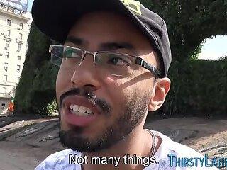 Deep throating and sucking latino