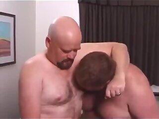 Chubs threesome gay orgy video
