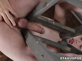Horny gay dudes enjoying anal fucking a lot
