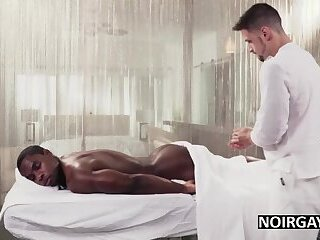 Interracial bbc massage leads to gay sex